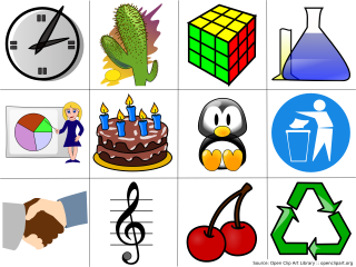 Examples of clip art from the Openclipart