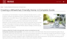 """Creating a Wheelchair-Friendly Home: A Complete Guide"" webpage image"