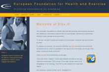 """European Foundation for Health and Exercise"" website image"