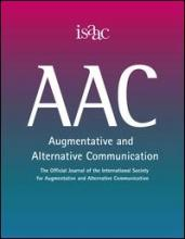 Official journal of the International Society for Augmentative and Alternative Communication (ISAAC) cover image