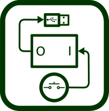 Switch interface box icon