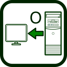 Output devices for computers icon