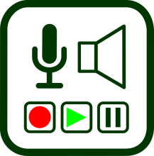 Sound recording and playing devices icon