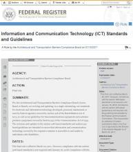 Information and Communication Technology (ICT) Standards and Guidelines cover image