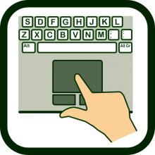 Finger-operated mouse icon