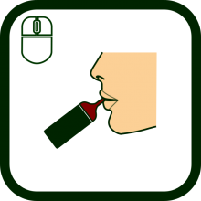 Mouth-operated mouse icon