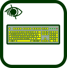 Keyboard icon of high contrast icon