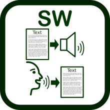 Speech technology icon