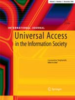 Universal Access in the Information Society book cover
