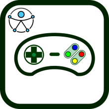 Accessible game controller icon