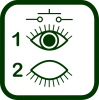 Eye blink switch icon