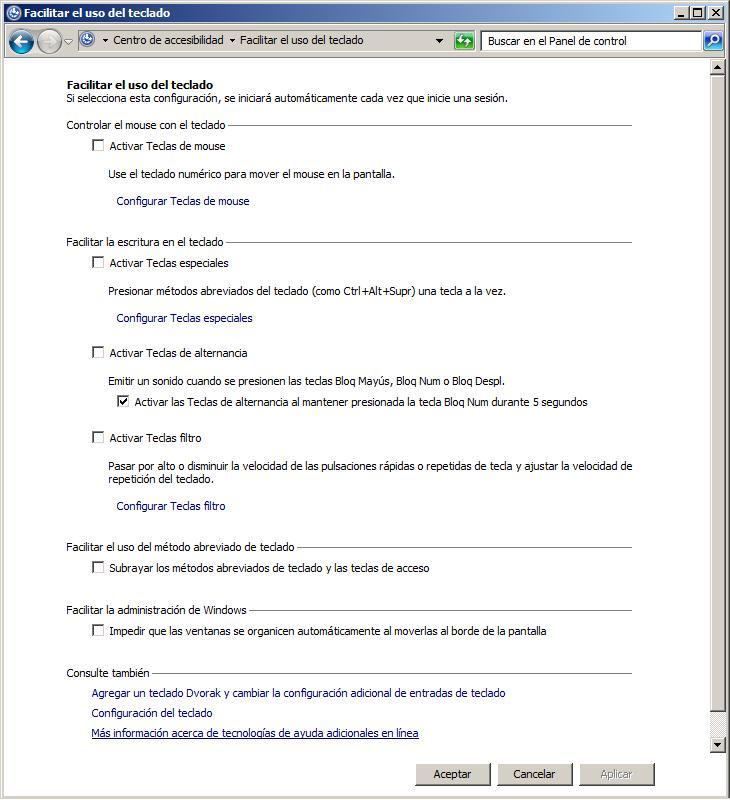 configurar teclado windows 7 argentina